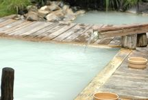 Japanese Hot Springs / Japanese Onsen, natural hot spring water made into very natural looking outdoor baths.