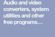 Audio and video converters