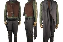 Rogue One costumes / Rogue One: A Star Wars Story Captain Cassian Andor Jyn Erso cosplay halloween costume sci-fi outfit jacket pants shirt vest accessories