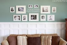 Wall Ideas / Picture frame walls, decor, etc. / by Christie Roush