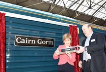 Inverness Launch March 2015 / First Minister of Scotland, Nicola Sturgeon and Rupert Soames, Serco Group Chief Executive Officer launched the new Serco-run Caledonian Sleeper service in Inverness on Monday March 23, 2015.