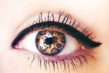#make up and contacts lenses♡