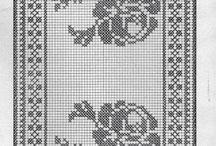 Crochet tapetes, caminos de mesa