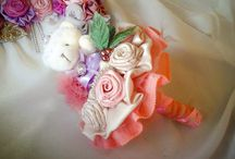 Fabric Flowers / Beautiful fabric flowers that I created. Follow Instagram Account-> Flower Tyy for order