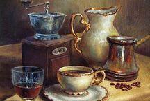 kávé, tea, süti