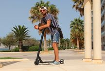 Electric scooters from Urban Drivestyle Mallorca / More and more people are leaving the car at home to avoid the ours spent searching for a precious parking spot or walking a long way form the car to the office. The e-scooter allows you to arrive in style and energized!