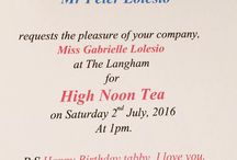 High tea invite with dad