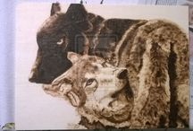 My pyrography & drawings / My works