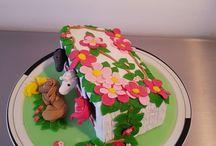 Schöne Kuchen mit Fondant
