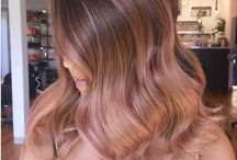 ombre Gold pink hair