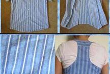 férfi ingből mellény varrása