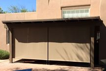 Standard Patio Shades - Exterior Retractable Shades / The Exterior Sun Shade Standard is a custom built medium duty exterior sun shade. Perfect to shade outdoor areas, windows & doors.