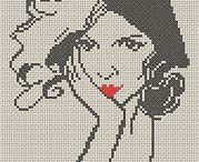 Ladies Silhouette Cross Stitch