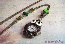 Relojes vintage Col. Temps Pendentif / Relojes con un toque vintage. Un must en El taller de Noa, que esta temporada llegan con un aire renovado.
