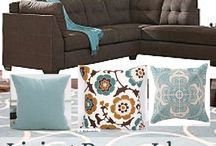 Lounge brown with blue