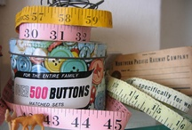 Vintage Notions, Stitching and Sewing / We love the colors, charm and unique qualities of vintage sewing supplies.