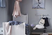 Grey and Dusty Pink Kids Rooms