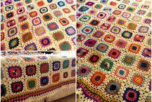 İlk tığ işi denemeleri / Tığ işi battaniye