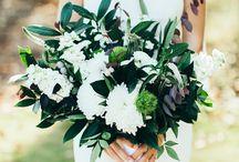 green&white wedding