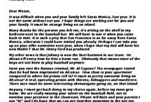 Al Capone Does My Shirts - Creative Writing - Letter to Pete