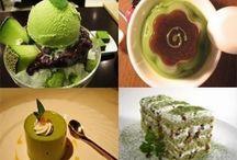 Green tea desserts