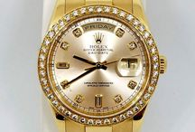 ROLEX 18K OYSTER PERPETUAL DAY-DATE WATCH WITH PRESIDENT BRACELET AND DIAMOND DIAL