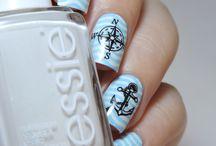 Nautical nail stamping