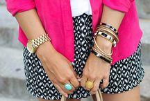 Black patterned shorts