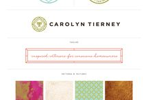 Brand Love / Branding, logos, submarks, stamps, brand boards + colour palette inspiration