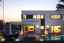 Puristische Wohnideen / Einfamilienhäuser mit Konzentration auf das Wesentliche