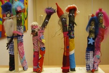 kunstwerken v/d  Meidoornschool /  leerlingen van het SO de Meidoornschool