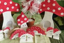 red polka dot decorations