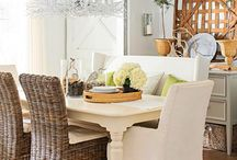 Dining / Gorgeous dining spaces. Dining rooms, great rooms, tables and chairs. Table settings, and home tours perfect for sharing a big meal with loved ones.