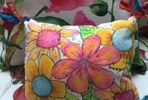 hand painted fabric