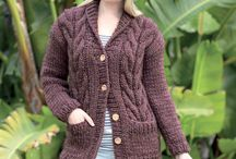 knitted cable cardigan