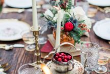 Roundup Post: Winter Wedding Tablescapes