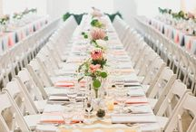 Long Reception Tables / Long reception tables for your #wedding or #event. / by Andrea Freeman Events