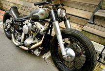 Harley Davidson - old school / Harley Davidson with a panhead Shovelhead engine (inculding  Pan-Shovel )