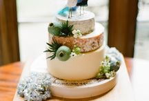Wedding Cake & Cheese Display