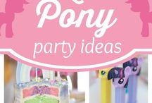 My Little Pony Birthday Party Ideas / My Little Pony Birthday Party Ideas from Cakes, Cookies, Treats and DIY Crafts and Decorations and Invitation Ideas!