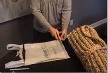 Poşetten çanta yapımı