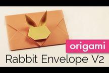 Origami borítékok