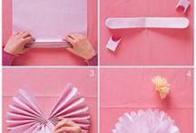 skládání z papíru - kytky