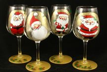 Holiday glassware / Hand painted glassware for all seasons and  holidays.