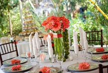 Coral Wedding flowers / by Judy Thompson
