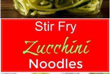 Vegetable noodle dishes