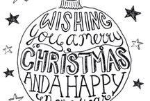 kerst hand lettiring