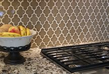 "Kitchen Tile Backsplashes / That 18"" of space between your counter and the #kitchen wall cabinets can make a huge impact on your look. Adding #tile or other wipeable surfaces as a #backsplash can be a fun element to your overall look."