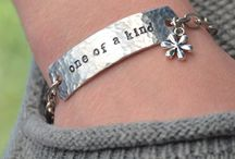 Hand Stamped Inspirational Jewelry / Inspiration for customized, hand stamped metal creations