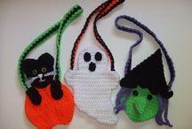 Halloween Crochet Patterns / Crochet Patterns for Halloween, crochet Halloween trick or treat bags, crochet Halloween toys, crochet Halloween door hangings, crochet pattern mummy, crochet pattern monster, crochet witch, crochet pattern ghost